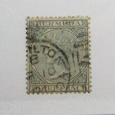 Bermuda Scott #23 Victoria Θ used, very fine + 102 card, superfleas