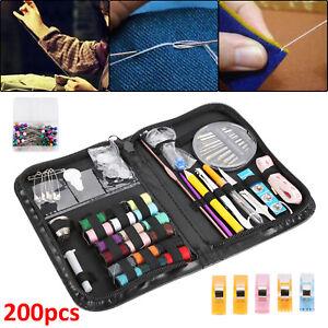 Mini Sewing Kit Thread Scissor 200 Piece Tape Pins Thimble Needle Travel Home