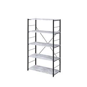 Bookshelf, Antique White & Black Finish