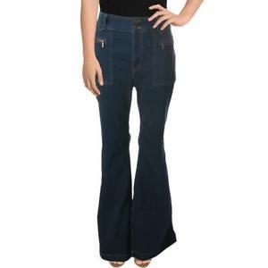 We The Free Womens Layla Blue Denim High Waist Flare Jeans 32 BHFO 2971