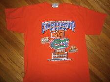 vtg 2006 University Florida Gators T Shirt Basketball Football National Champs L