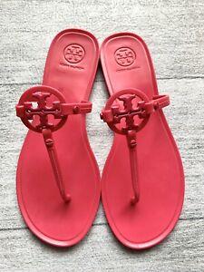 Tory Burch Mini Miller Jelly Thong/Sandal Bright Azalea women's size 8