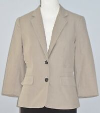 BANANA REPUBLIC Size 2 Beige Stretch 2-Button Collared Long Sleeve Blazer