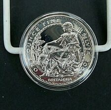 UK GB 2005  Britannia £2  Pounds. 1 oz Ounce Fine Silver (.958).  Encapsulated