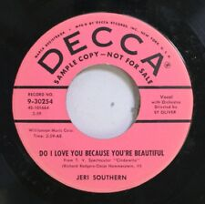 50'S & 60'S Promo 45 Jeri Southern - Do I Love You Because You'Re Beautiful / Wh