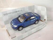 "Toyota Corolla Blue Die Cast Metal Model Car 5""  New In Box"