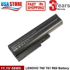 6 Cells Battery For IBM T60 Lenovo ThinkPad T500 R500 R60 T61 T61Q W500 SL300