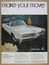 1968 Chrysler 300 Convertible color photo vintage print Ad