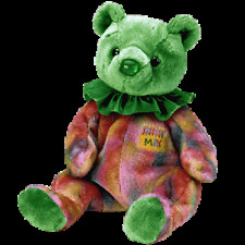 "TY BEANIE BABIES HAPPY BIRTHDAY ""MAY  ""  BEAR. PACK OF 6 MINT WITH MINT TAG"