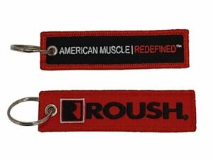Key Chain - Roush Embroidered Tag * Perfect for Roush Mustang, F150, Racing Fans