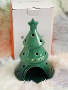 Holiday LE CREUSET Green Tea Light Candle Holder Christmas Tree Juniper