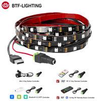 1/2/3M WS2812B RGB USB LED Strip DC5V HDTV Monitor PC Background LED Pixel Light