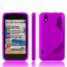 CASE COVER TPU SILICONE GEL S GROUNDS PURPLE LG Optimus Black P970
