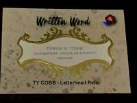 2020 Historic Autographs Written Word Ty Cobb Authentic Personal Letterhead