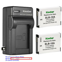 Kastar Battery Wall Charger for Samsung SLB-10A Samsung SL310 SL420 SL502 Camera