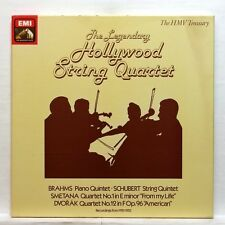 HOLLYWOOD STRING QUARTET - BRAHMS SCHUBERT SMETANA DVORAK - EMI RLS765 3xLPs NM