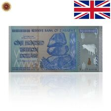 WR Zimbabwe 100 Trillion Dollar Notes GOLD Banknote Set Certificate