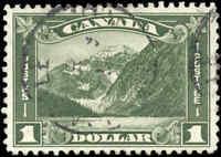Used Canada 1930 F+ Scott #177 $1.00 King George V Arch/Leaf Stamp