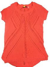 FYLO Womens Short Sleeve Crochet Top (Mandarin, Medium)