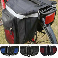 Bicycle Double Pannier Seat Bike Rear Tail Rack Pack Storage Pouch Bag Organzier