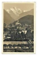 Vintage Postcard RPPC Interlaken Jungfrau Suisse Switzerland Photo Posted 1929