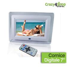 CORNICE DIGITALE 7'' USB FOTO VIDEO MP3 JPG SD AVI TELECOMANDO BIANCA O NERA SPG