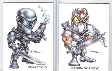 G.I.JOE ** STORM SHADOW SNAKE EYES SET A ** TRADING CARD ART SIGNED by RAK ** NM