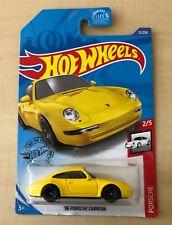 1996 Porsche Carrera 1/64 Yellow Hot Wheels New