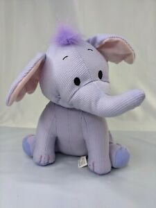 "Fisher Price Heffalump Elephant Plush 9"" Purple Corduroy 2005 Stuffed Animal Toy"