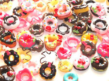 BULK BUY! 20pcs Mixed Iced Doughnuts Donut Cake Muffin DIY Flatback Decoden Kit