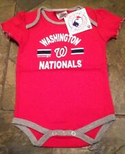 NWT WASHINGTON NATIONALS GIRLS TODDLER BABY CREEPER 0-3 MONTHS