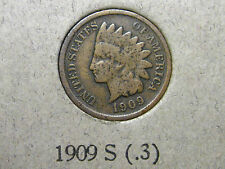 1909-S Indian Head Cent                   SCARCE                          (10th)