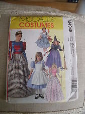 "PATRON ""MC CALL'S COSTUMES  "" 5 MODELES COSTUMES SORCIERE FEE PRINCESSE ETC"