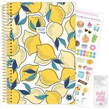 2021 Lemons Calendar Year Daily Planner Agenda 12 Month January - December bloom