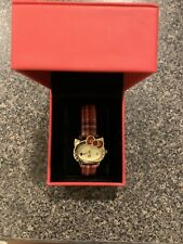 (Slightly Used) Hello Kitty Plaid Analog Watch With Gift Box