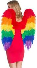 Rainbow Feather Angel Wings Large Fancy Dress Costume Accessory