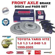 FOR TOYOTA YARIS VITZ 1.0 1.3 1.4 D4D 1.5 1999-2005 FRONT AXLE BRAKE PADS +DISCS