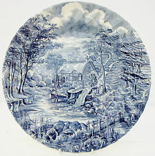 Vintage Alfred Meakin The Mill Blue White Dinner Plate