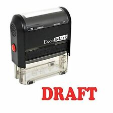 NEW ExcelMark DRAFT Self Inking Rubber Stamp A1539 | Red Ink