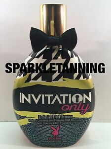 Playboy INVITATION ONLY Black Bronzer Tan Indoor Tanning Bed Lotion