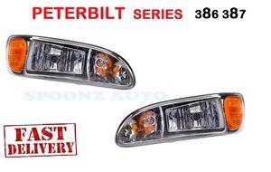 2008 2009 2010 2011 PETERBILT 386 387 Headlight w/Bulbs P54-6010 - PAIR