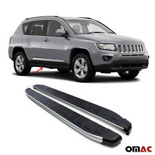 Side Steps Running Boards Aluminum Nerf Bars 2 Pcs. Fits Jeep Compass 2007-2017