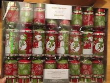 SET 8 SNOWMAN SNOWFLAKE PARTY CRACKERS POPPERS Holiday FAVORS PIER 1 IMPORTS