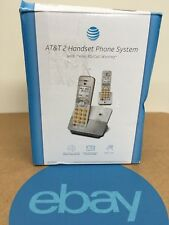 AT&T EL51203 DECT 6.0  2-Handset Cordless Phone System Caller ID/Call Waiting