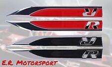 COPPIA STEMMI LOGO R laterali in metallo Cromato/Rosso Volkswagen