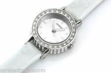 RELOJ GUESS MUJER ELITE SILVER TONE LEATHER STRAP W80064L1 SWAROVSKI P.VP.179€