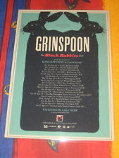 GRINSPOON - BLACK RABBITS  AUSTRALIAN  TOUR  -  PROMO TOUR POSTER