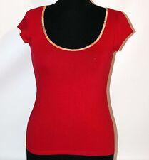 Prima Classe maglia rosso mappa t shirt manica corta Alviero Martini S M