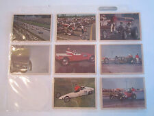 17 VINTAGE HOTROD TRADING CARDS AND STICKERS - TUB RH-7