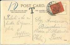GIBRALTAR -  POSTAL HISTORY:  POSTCARD to ITALY 1906 - TAXED